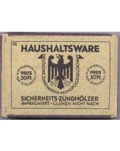 ORIGINAL WW11 GERMAN WOODEN STICK MATCHES
