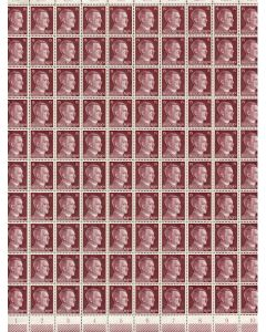FULL AND COMPLETE GERMAN WWII HITLER HEAD STAMP SHEET OF 100 STAMPS 15 RPF VALUE