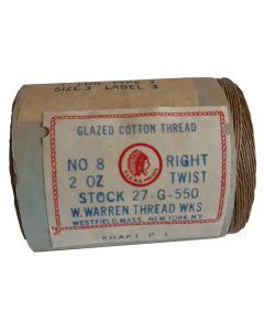 WWII AMERICAN KHAKI GLAZED COTTON THREAD NO 8