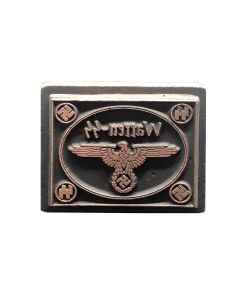 GERMAN SQUARE WAFFEN SS WWII WOODEN HAND INK STAMP