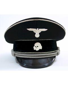 GERMAN ALLGEMEINE SS OFFICERS VISOR CAP