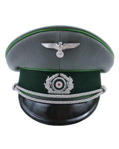 GERMAN ARMY OFFICER VISOR CAP MADE BY JANKE