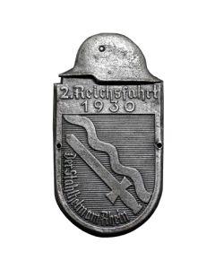 GERMAN CAR PLAQUE  2. REICHSFAHRT 1930 SHEILD SILVER