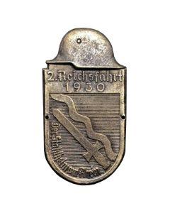 GERMAN CAR PLAQUE 2 REICHSFAHRT 1930  ARM SHEILD BRONZE