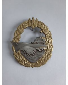 GERMAN DESTROYERS WAR BADGE Gold & Silver