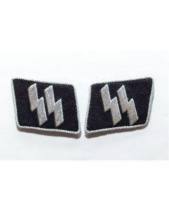 GERMAN WW2 DOUBLE SS RUNES Collar Tab