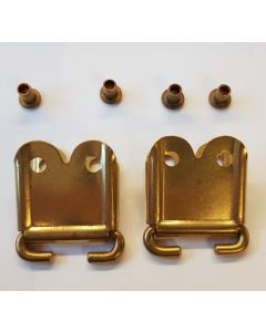 GERMAN ENFIELD BRASS RIFLE SLING CLIP ENDS