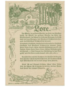 GERMAN FOLK LORE POSTCARDS FROM WW11 WITH WRITTEN LETTERS TO BACK HOME