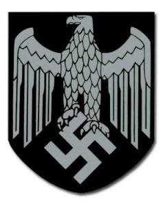 GERMAN HELMET HEER EAGLE DECAL - SINGLE