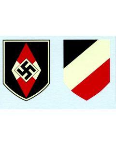 GERMAN HITLER YOUTH HELMET DECAL