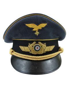 GERMAN LUFTWAFFE GENERAL VISOR CAP MADE BY JANKE