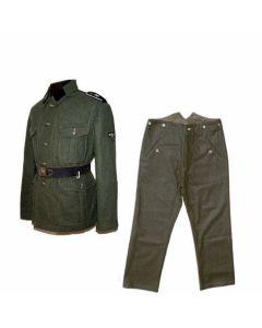 GERMAN M40 WOOL SERVICE TUNIC AND M37 FIELD GREEN WOOL PANTS