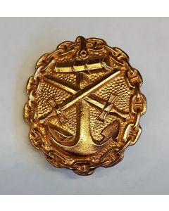 GERMAN NAVY WOUND BADGE GOLD