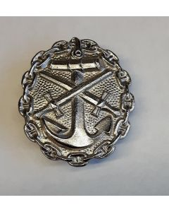 GERMAN NAVY WOUND BADGE silver