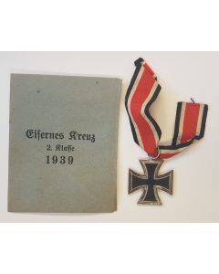 GERMAN 1939 IRON CROSS 2ND CLASS WITH ENVELOPE