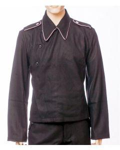 GERMAN WW2 PANZER WRAP - BLACK WOOL PANZER WRAPPER TUNIC JACKET