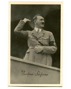 GERMAN POSTCARD OF HITLER