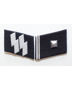 GERMAN SS-SCHARFUHRER (Staff Sargeant) ENLISTED MAN COLLAR TABS