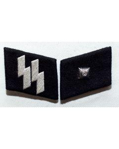 GERMAN SS-UNTERCHARFUHRER (Sargeant) ENLISTED MAN COLLAR TABS