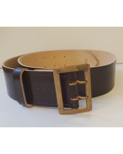 GERMAN SS GENERALS OR ARMY BROWN BELT WITH ORIGINAL GOLD BUCKLE