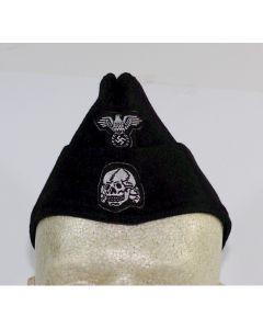 GERMAN SS PANZER EM OVERSEAS CAP BLACK