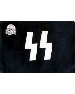 GERMAN SS SKULL ALLGEMEINE BATTLE FLAG Poly (3 x 5)