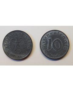 GERMAN THIRD REICH COIN - 10 REICHSFENNING
