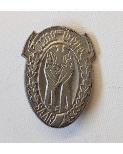 GERMAN TREUE UM TREUE SAAR 1935 TINNIE