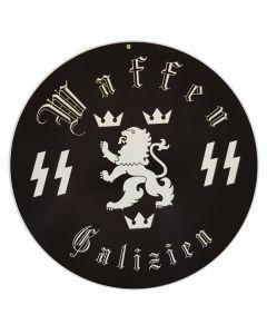 GERMAN WAFFEN SS GALZIEN METAL SIGN