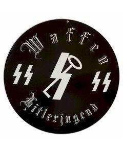 GERMAN WAFFEN SS HITLERJUGEND METAL SIGN
