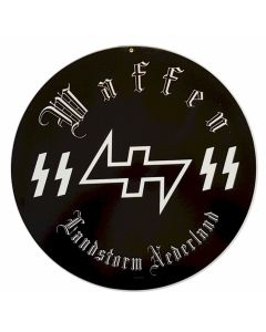 GERMAN WAFFEN SS LANDSTORM NEDERLAND METAL SIGN