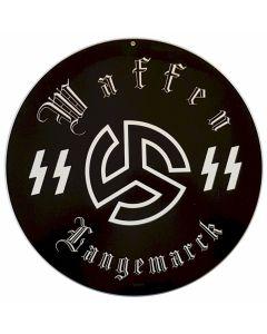 GERMAN WAFFEN SS LANGEMARCK METAL SIGN