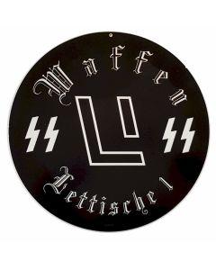 GERMAN WAFFEN SS LITTISCHE 1 METAL SIGN