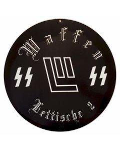 GERMAN WAFFEN SS LITTISCHE 2 METAL SIGN
