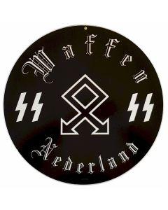 "GERMAN WAFFEN SS NEDERLAND METAL SIGN 14"" X 14"""