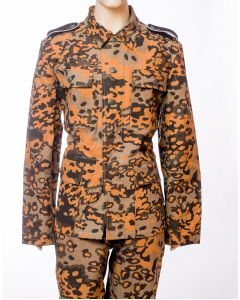 GERMAN WAFFEN SS OAK LEAF A CAMOUFLAGE M43 DRILL TUNIC AND PANTS SET