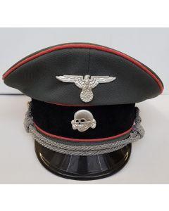 GERMAN PANZER WAFFEN SS OFFICER VISOR CAP