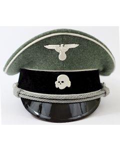 GERMAN WAFFEN SS OFFICER VISOR CAP FIELD GREY