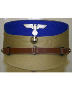 GERMAN WW11 SA STORMTROOPER KEPI TAN WITH BLUE