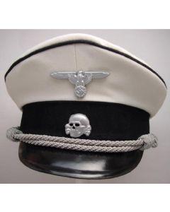 GERMAN WW11 WHITE ALLGEMEINE SS OFFICERS VISOR CAP