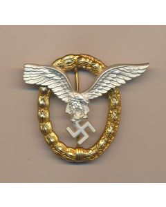 GERMAN WW2 COMBINED PILOTS AND OBSERVERS WREATH Gold W Silver Eagle