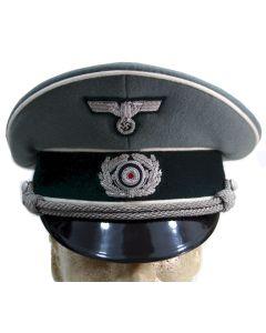 GERMAN HEER GREY OFFICER VISOR CAP