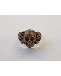 GERMAN WW2 WEHRMACHT CANTEEN SILVER SKULL RING