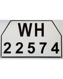 GERMAN WW2 WH BIG VEHICLE OR TRUCK LICENCE PLATE