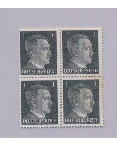 GERMAN WWII HITLER HEAD STAMP OF 4 STAMPS 1 RPF VALUE