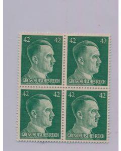 GERMAN WWII HITLER HEAD STAMP OF 4 STAMPS 42 RPF VALUE