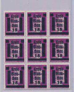 GERMAN WWII HITLER KREIS STAMPS 15 RPF VALUE
