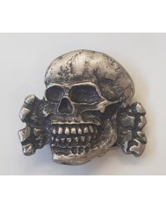 GERMAN WWII TOTENKOPF BUCKLE WITH MODERN HOOK REPRODUCTION