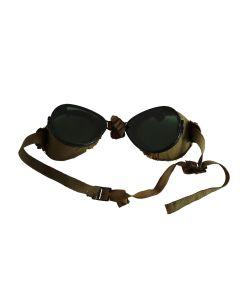 VINTAGE US WWI PILOT FUR-LINED AVIATOR SUN GOGGLES