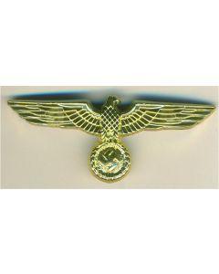 WWII GERMAN GENERAL ARMY VISOR CAP EAGLE GOLD